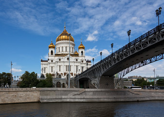 Russian Orthodox Cathedral referred to as the Temple Of Christ The Savior in Moscow
