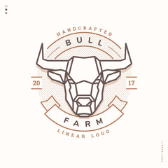 bull farm linear logo