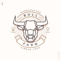 bull farm linear logo