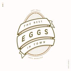 egg farm linear logo