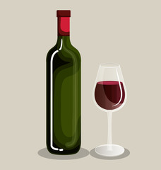 best wine bottle icon vector illustration design