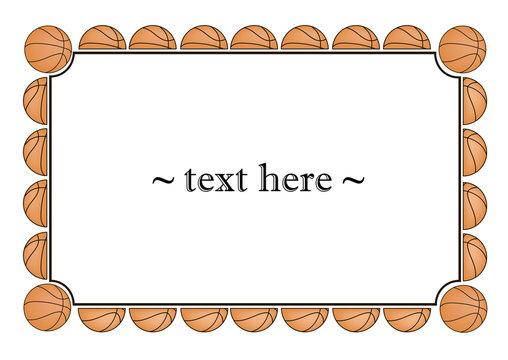 frame with basketball balls