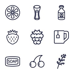 Set of 9 freshness outline icons