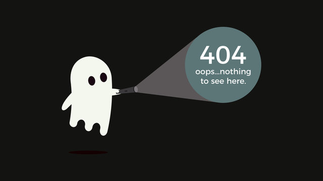 Illustration for 404 error. Vector concept design for page 404. Page is lost and not found message. Template for web page with 404 error. Trendy fun character design.