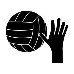 hand volleyball ball sport pictogram vector illustration eps 10