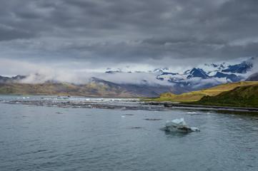 The bay of Grytviken, South Georgia, Antarctica, Polar Regions