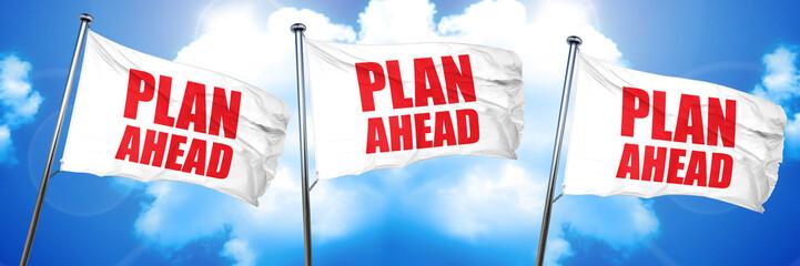 plan ahead, 3D rendering, triple flags
