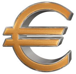 Euro symbol, isolated on white  background, 3D illustration