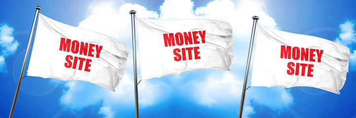 money site, 3D rendering, triple flags