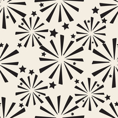 seamless monochrome firework pattern background