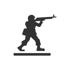 BW icon - Toy soldier