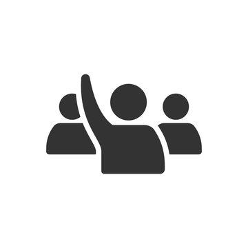 BW Icons - Raise hand