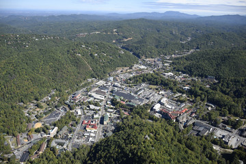 Downtown Gatlinburg TN, Aerial View