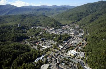 Aerial View Gatlinburg TN