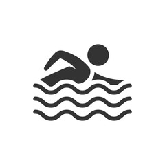 BW icon - Man swimming