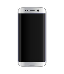 Silver smartphone with edge display design