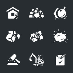 Vector Set of Demolition Icons.