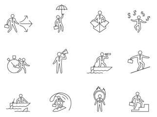 Outline Icons - Businessman