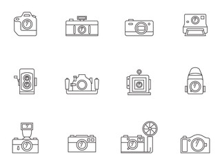Outline Icons - Cameras