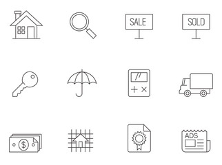 Outline Icons - Real Estate