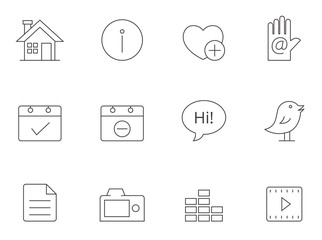 Outline Icons - Personal Portfolio