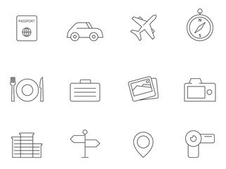 Outline Icons - Travel