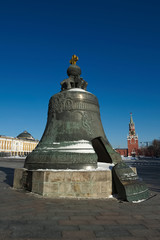 In de dag Monument Tsar Bell in the Moscow Kremlin, is cast in the cannon yard in 1733-1735, a monument to the art of casting Russia