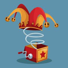april fools day surprise box vector illustration eps 10