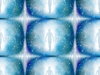 Human figure in light