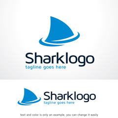 Shark Logo Template Design Vector
