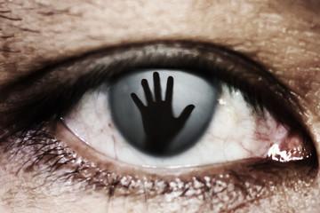 Fototapeta hand of woman In the twinkling of an eye obraz