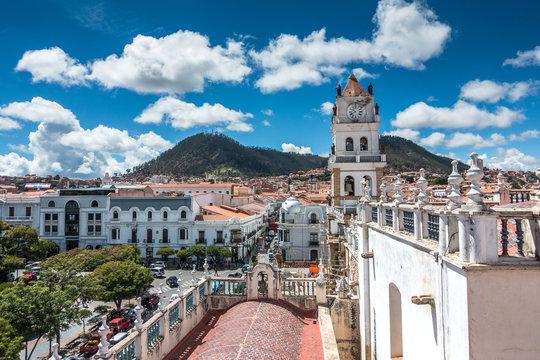 Aussicht in Sucre, Bolivien