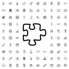 puzzle icon illustration