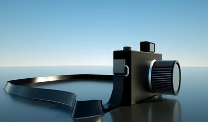 Retro camera, the concept, 3d render