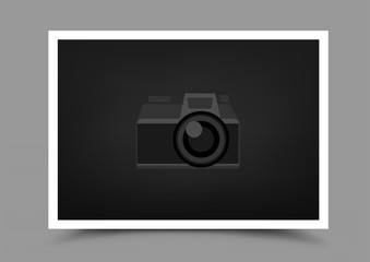 a4 paper photo icon horizontal
