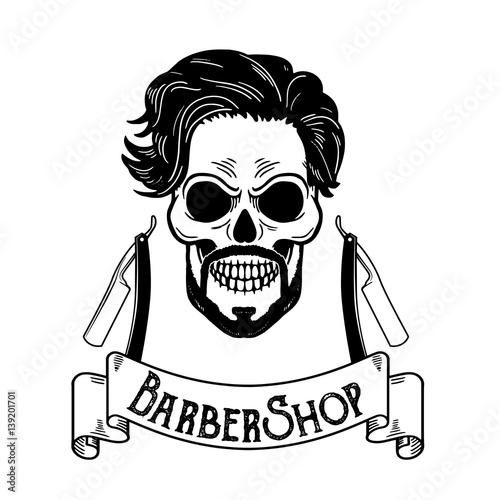 """""""Vector Barbershop emblem, barbershop logo or badge for ..."""
