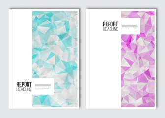 Business brochure design template. Vector flyer layout, backgrounds with elements for magazine, cover, poster design. A4 size.