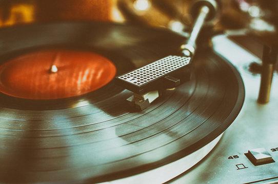 Retro record player.