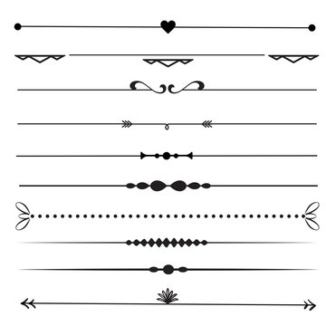 Collection of decorative page dividers