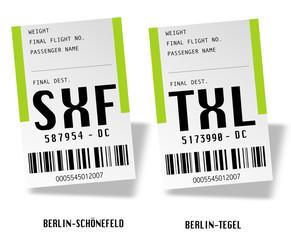Berlin airport tag bags 2 - Germany / Deutschland