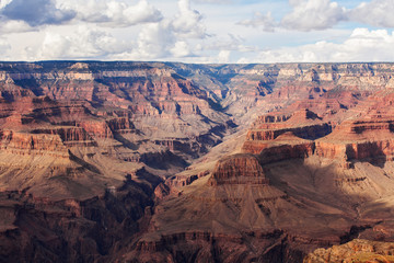 Scenic view Grand Canyon National Park, Arizona, USA. Panorama landscape sunny day