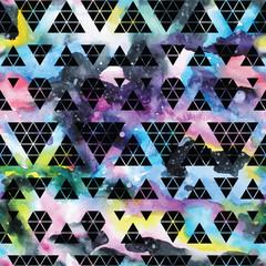 Tribal galaxy seamless pattern.