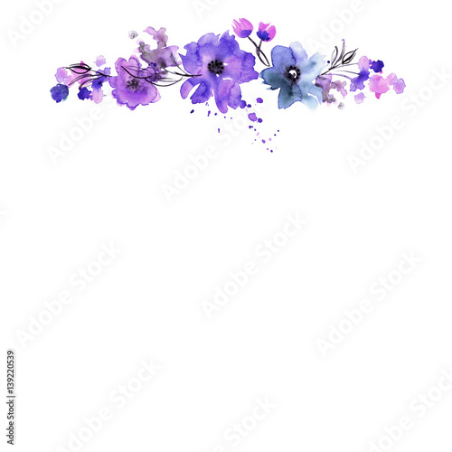 Quot Floral Background With Hand Painted Watercolor Flowers
