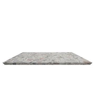 Shelf Terrazzo floor beautiful on white background