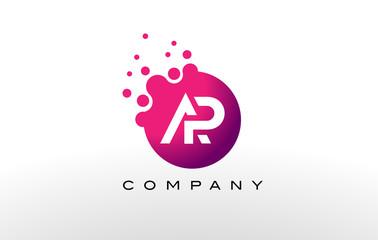 AP Letter Dots Logo Design with Creative Trendy Bubbles.