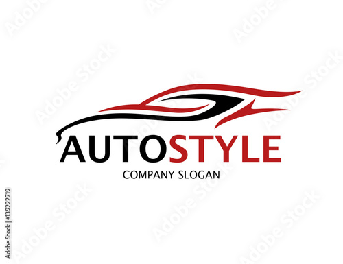 Automotive car logo design with abstract style black and for Car rental logo samples