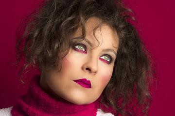 dark pink makeup