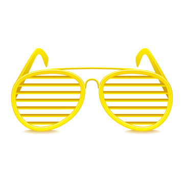 Shutter shades sunglasses isolated on white vector