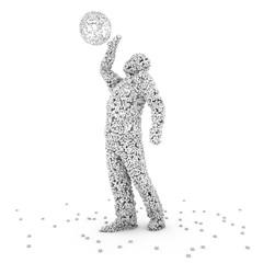 3d rendering illustration of human body