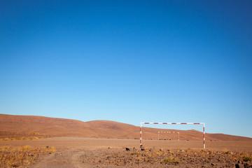 primitive soccer field